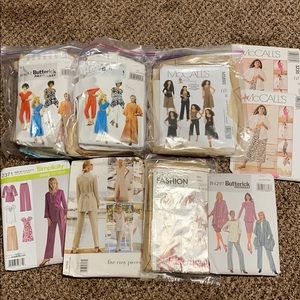 Other - ✂️Lot of 9 women's business casual sewing patterns